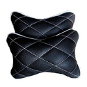 Plain 2 Black Car Neck Pillow