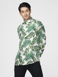 Printed Full Sleeve Men Casual Cotton Viscose Shirt
