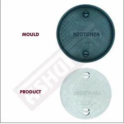 ROUND MANHOLE COVER MOULD (CHEX DESIGN) (DIA-600MM X 25 MM)