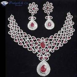 American Diamond Stone Bridal Necklace