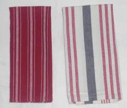 Multicolor Cotton Woven Stripe Towel, Size: 50 X 70 Cm