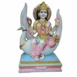 Marble Brahmani Mata Statue