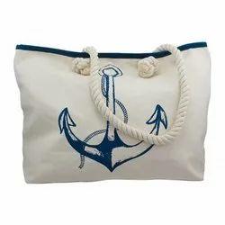 Printed Rope Handle Shopping Bag