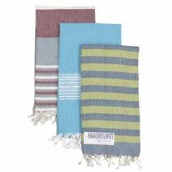 Cotton Yarn Dyed Fouta Turkish Fouta Terry Beach Throws