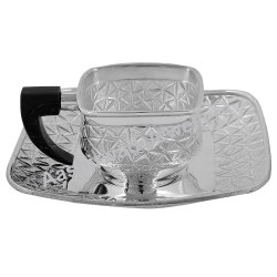 Pure Silver Tea Cup & Plate