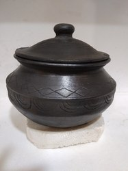 Clay Black Biryani Pot-MK0010
