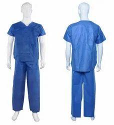 Non Sterile Non Woven Disposable Scrub Suit