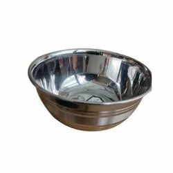 Silver Stainless Steel Round Bowl, Packaging Type: Box
