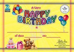 Matt / Gloss 1 - 7 Days Birthday Card Invitation Printing, Dimension / Size: 6x9 Inch, Kolkata