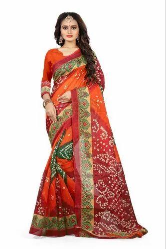 Bhagalpuri Cotton Saree with Blouse