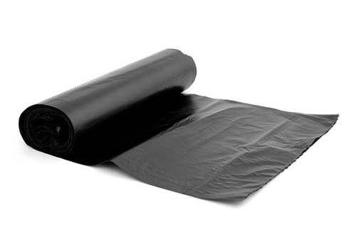 Black Plain Poly Bag Roll On