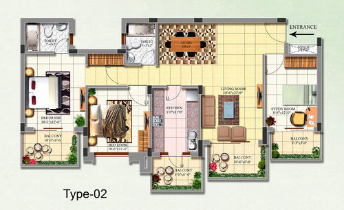 2D Texture Floor Plan Services In Sector 13, Gurgaon