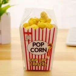 Yellow POPCORN ERASERS, Packaging Type: Packet