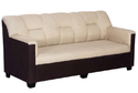 Brown And Cream Bharat Lifestyle Star Fabric Sofa Set, Warranty: 1 Year