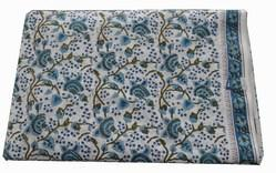 Hand Block Cotton Printed Floral Fabric