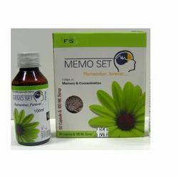 Memory Enhancer Memo Set Herbal Brain Supplement Memo Set Pack