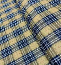Twill Check Shirting Fabric, GSM: 100-150