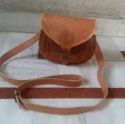 Brown Leather Ladies Fashion Bag
