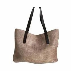 Brown Ladies Jute Bag