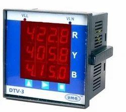 Digital Three Phase Voltmeter