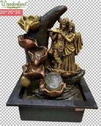 Polyresin Black,Brown Wonderland Designer Resin Table Top Fountains