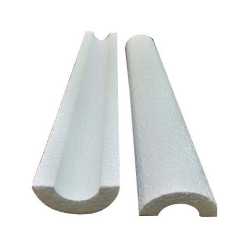 White Thermocol Pipe Section, Size: 1.4 x 10 m