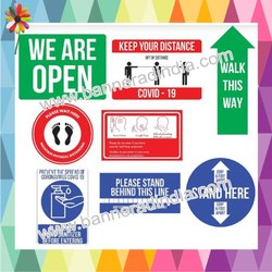 Social Distancing Escalator Stickers, Floor Vinyl Adhesive Stickers