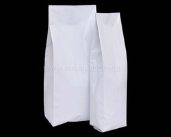 Shiny White Side Gusset Bags