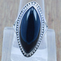 Royal 925 Sterling Solid Silver Black Onyx Gemstone Ring