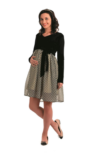26d1f3a94943a M And XL Black & White Innovative Presents Maternity A Line Dress ...