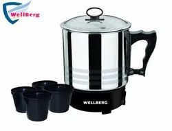 Wellberg Electric Kettle with Free 4 Cups