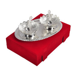 Silver Plated Brass Mouth Freshener Set