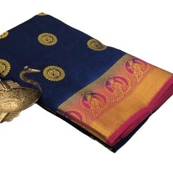 Raw Silk Saree With Butta
