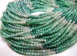 Moonstone Rondelle Faceted Beads