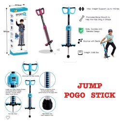 Blue & Red Jump Pogo Stick Toy, 5-10 Yrs