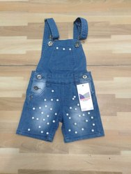 Girls Party Wear Kids Dungarees