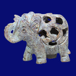 Hand Carved Soapstone Elephant