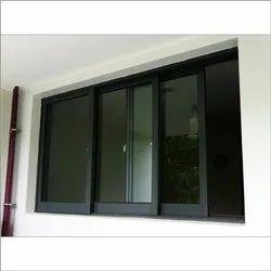 Aluminium Powder Coating Rectangular Sliding Glass Window