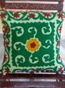 Suzani Pom Pom Pillows Embroidered Cushion Cover