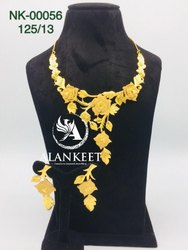 Gold Plated Designer Short Necklace