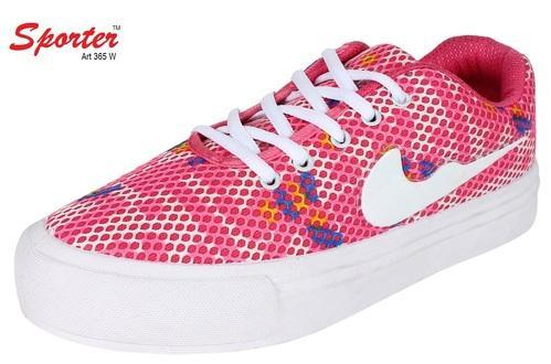 1b9de786c308 Pink Canvas Women girls -365 Running Shoes
