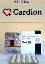 Metformin Hydrochloride Ip 1000 Mg Tablet