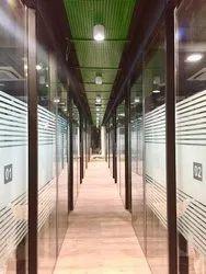 Double Glaze Corporate Office Cabin Partition