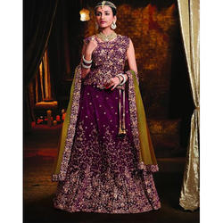 Purple Bridal Lehenga