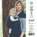 Organic ring sling baby carrier