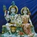 Marble Lord Shiv Parvati Statue