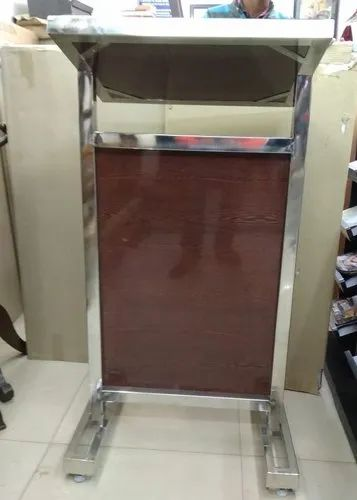 Wooden Stainless Steel Podium Stand