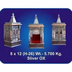 8x12x26 Inch Silver Oxidized Temple