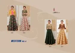 Eba Lifestyle Western Vol 4 Occasional Wear Long Flair Gowns Latest Collection