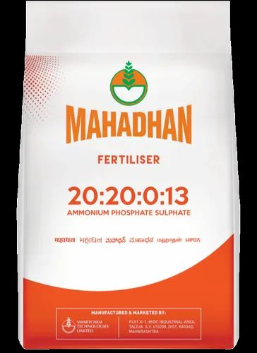 Mahadhan 20 20 0 13 Fertilizer Packaging Size 50 Kg Packaging Type Hdpe Bag Id 22053745173